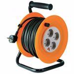 Prelungitor tambur metalic Home HJR4-50, 4 prize, 50m, 3 x 1,5 mm2, ip20 (Portocaliu)
