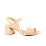 Sandale femei Enzo Bertini aurii din piele cu toc mediu 1899DS1509AU