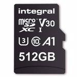 Card de Memorie Integral 512GB MICRO SDXC 80V30 U3 V30 cu adaptor inmsdx512g-100/80v30
