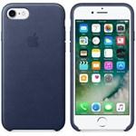 Husa de protectie Apple pentru iPhone 8 / iPhone 7, Piele, Midnight Blue