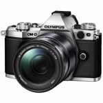 Aparat Foto Mirrorless Olympus E-M5 Mark II silver + EZ-M1415 II black v207043se000