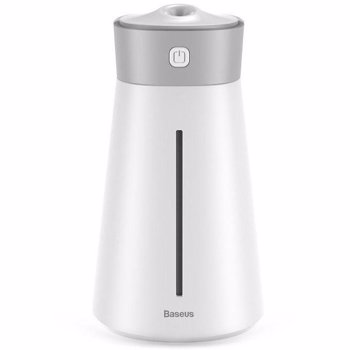 Umidificator aer cu vibratii ultrasonice si lumina ambientala Baseus Slim White