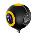 Camera video pentru sportivi National Geographic 9683100, 2 MP, 360 grade, streaming