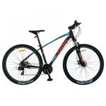 """Nou! Bicicleta MTB-HT CARPAT C2957C, roti 29"""", cadru aluminiu, frane mecanice disc, 24 viteze (Negru/Albastru)"""