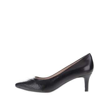 Pantofi cu toc negri Geox Elina
