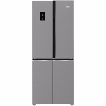 Frigider Side By Side Beko GNE480E20ZXP, 450 l, Clasa A++, NeoFrost™ dual cooling, H 192 cm, Argintiu
