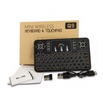 Tastatura Wireless Techstar® Q9 Iluminata RGB , QWERTY, Plug&Play, Tochpad, Tastatura, Mouse
