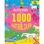 Carti pentru copii / Carte Editura Girasol, Activitati cu 1000 de abtibilduri - Cai
