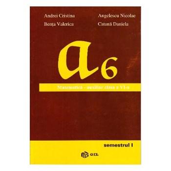 Matematica cls 6 Semestrul 1 Auxiliar - Andrei Cristina, Angelescu Nicolae