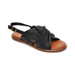 Sandale IMAGE negre, 719, din piele naturala