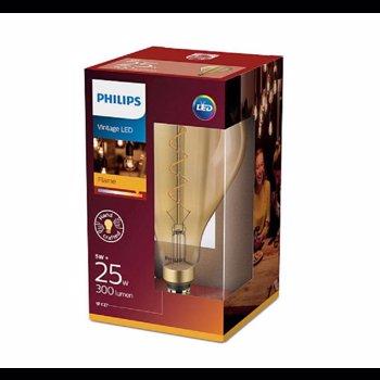 Philips Bec LED 5W (25W) classic-giant E27 A160 GOLD ND, flacără, fără intensitate variabilă, temperatura culoare 2000K