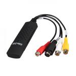 Placa Easycap pentru captura video si audio cu usb si 4 intrari video negru