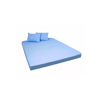 Set de cearsaf cu elastic si 2 fete de perna Home Still, microfibra, Albastru, 160x200-2P-50x70 cm