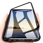 Husa Samsung Galaxy S7 Edge Magnetica 360 grade BLACK Elegance Luxury cu spate de sticla securizata premium 01hms7en