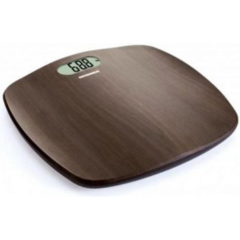 Cantar de persoane Heinner HBS-BRW180BB, 180kg, platforma cu design de lemn, display LCD, 31 x 31 cm, baterii 2 x 1.5V AAA, Maro