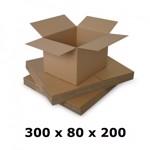 Cutie carton 300x80x200, natur, 3 starturi CO3, 435 g/mp