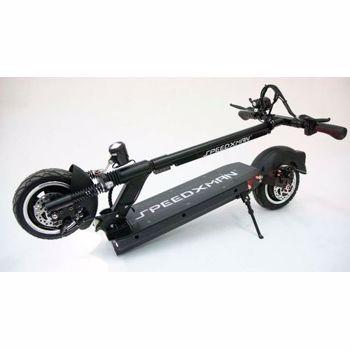"Trotineta electrica SPEEDXMAN 9, Viteza 40 Km/h, Autonomie 40-80 Km, Motor 500 W, Suspensie fata hidraulica/spate - amortizor dublu, Roti 9"" (Negru)"