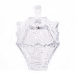 Zaharnita Tandis din sticla transparenta cu model si capac 230ml