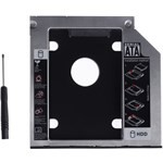 Adaptor HDD Caddy, laptop grosime 9.5mm interfata Sata-Sata, cu masca frontala din plastic