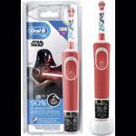 Nou! Periuta de dinti electrica pentru copii Oral-B D100 Vitality Star Wars, 2 programe, 1 capat (Rosu)