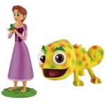 Set 2 Figurine Rapunzel cu Parul Scurt si Pascal