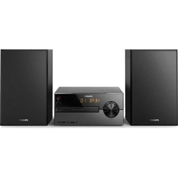 Microsistem muzical Philips BTB2515/12, 15 W, Radio, DAB/DAB+, Bluetooth, Woofer, Display, Sistem de boxe Bass Reflex, Negru