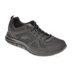 Pantofi sport SKECHERS negri, TRACK SCLORIC, din material textil si piele naturala