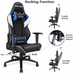 Scaun gaming Anda Seat Assassin King, reglabil (Negru/Alb/Albastru)