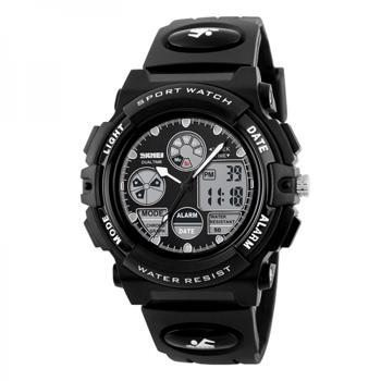 Ceas de copii sport SKMEI 1163 digital si analog cronometru data alarma waterproof 5ATM negru