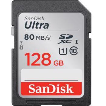Card de memorie SanDisk SDXC Ultra, 100 MB/s, 128 GB