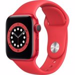 Apple Watch Series 6 GPS, 40mm, Red, Aluminium Case, Red Sport Band