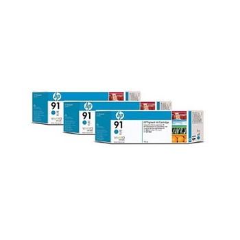 Consumabil cerneala HP C9483A Nr 91 multipack 3 buc cyan