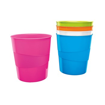 Cos de gunoi, 15 litri, roz metalizat, LEITZ WOW