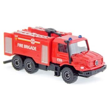 Masinuta Majorette SOS Pompieri Mercedes Benz Zetros, Scara 1:64