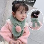 Fular simpatic pentru copii, model calduros ?i delicat pentru iarna, pe mai multe culori, cu urechi de iepure