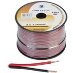 Cablu difuzor cupru 2x1.00mm rosu/negru 100m