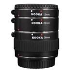 Kooka KK-CM47 set tuburi extensie (inele macro - 10mm, 16mm, 21mm) pentru EOS-M