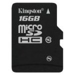 Card de memorie Kingston MicroSDHC, 16GB, Class 10