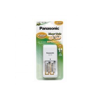 Panasonic BQ-CC06 - incarcator compact + 2 acumulatori AA