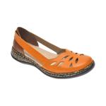 Pantofi RIEKER galbeni, 46357, din piele naturala