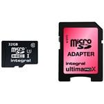 Card Memorie Integral MicroSD 32GB Clasa 10 + Adaptor SD inmsdh32g10-90/45u1