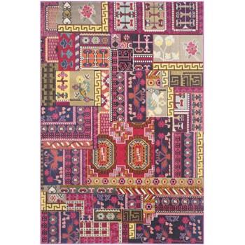Covor Patchwork Cato, Roz/Multicolor, 155x231