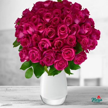 Buchet de 55 trandafiri roz