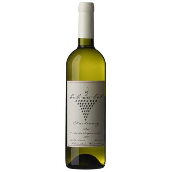 Vin alb sec Bob cu bob, Chardonay, 0.75L