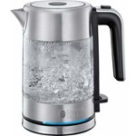 Fierbator Russell Hobbs Compact Home Glass 24191-70, 2200 W, 0.8 L, Sticla, Design compact, Inox