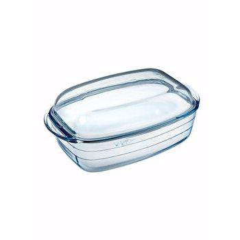 Vas termorezistent capac,Ocuisine, 40490, 6.5 L, sticla termorezistenta, Incolor