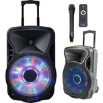 Boxa portabila activa iluminat15 inch/38CM USB/SD/BT/FM