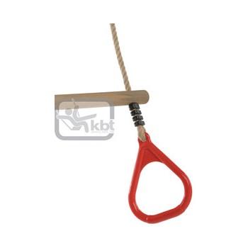 Trapez din lemn cu inele din plastic - P