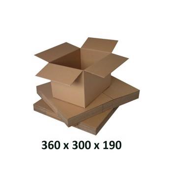 Cutie carton 360x300x190, natur, 3 starturi CO3, 435 g/mp