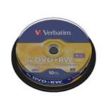 Mediu stocare Verbatim DVD-RW 4.7GB 4x Matt Silver spindle 10 buc